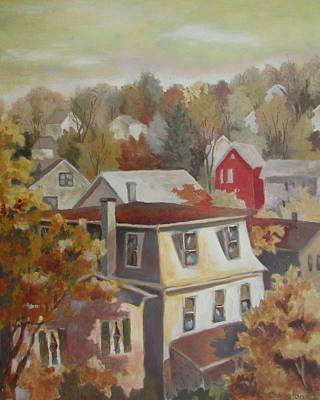 Painting - The Red House by Tony Caviston
