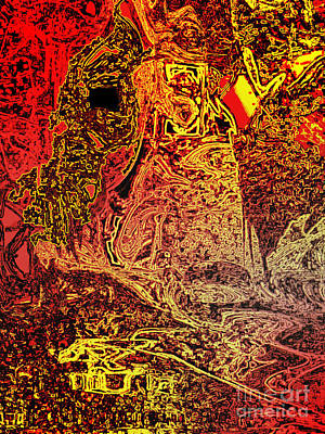 Tapestries - Textiles Digital Art - The Red Knight Tapestry by Nicole Beland