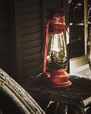 Photograph - The Red Lantern by Debra Crank