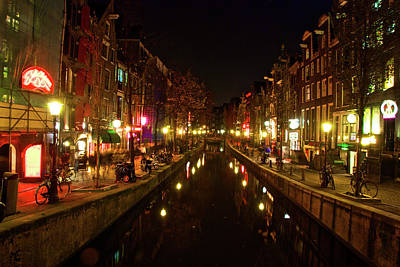The Red Lights Of Amsterdam Art Print