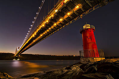 The Red Little Lighthouse Art Print