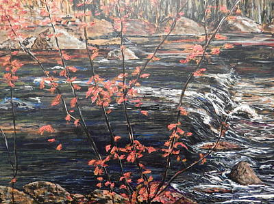 Painting - The Red Maple After A.y. Jackson by Betty-Anne McDonald