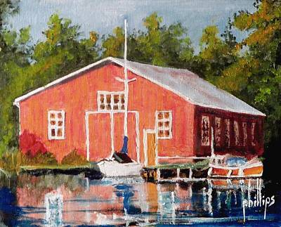 The Red Marina Art Print by Jim Phillips