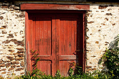 Pine Barrens Photograph - The Red Mill Door by Kristia Adams