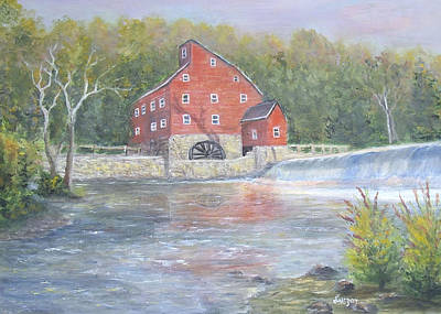 Painting - The Red Mill by  Luczay