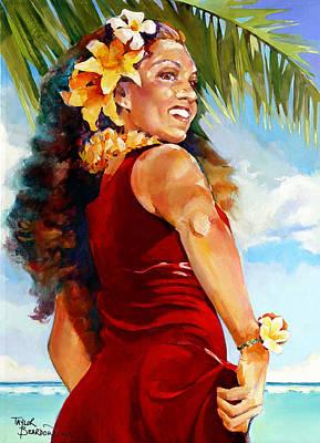 The Red Pareo Art Print by Penny Taylor-Beardow