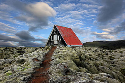 Iceland Wall Art - Photograph - The Red Path To The Red Roof by Michel Romaggi