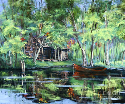 Painting - The Red Pirogue by Dianne Parks