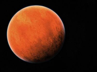 Terrestrial Sphere Photograph - The Red Planet by Daniel Sicolo