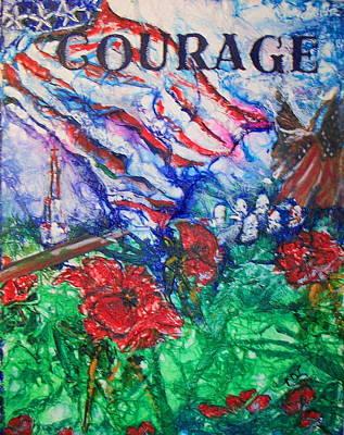 Memorial Day Mixed Media - The Red Poppy by Patty Boban Lipinski