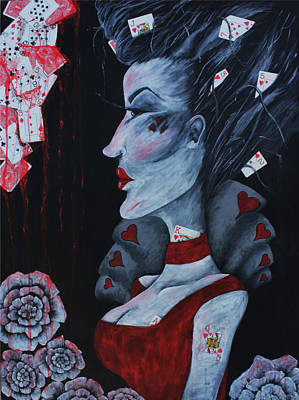 Alice In Wonderland Painting - The Red Queen by Leia Sopicki