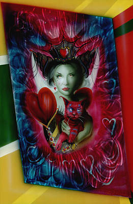 Queen Of Hearts Painting - The Red Queen by Luis  Navarro