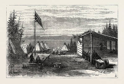 Thunder Drawing - The Red River Expedition Headquarters, Thunder Bay by Canadian School