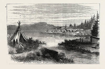 Thunder Drawing - The Red River Expedition View From Volunteer Camp by Canadian School