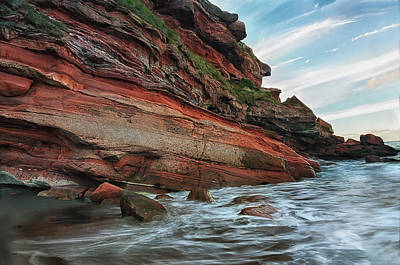 Photograph - The Red Rocks by Jean-Noel Nicolas