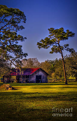 Red Roof Photograph - The Red Roof Barn by Marvin Spates