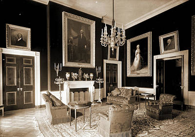 Washington D.c Drawing - The Red Room, White House, White House Washington by Litz Collection