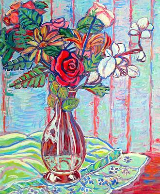 Painting - The Red Rose by Kendall Kessler