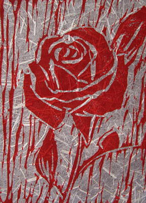 The Red Rose Art Print by Marita McVeigh