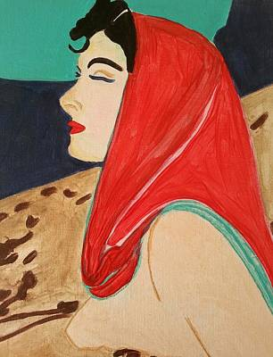Painting - The Red Scarf by Nikki Dalton