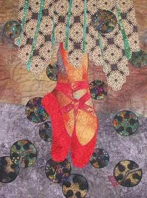 Lynda Boardman Art Tapestry - Textile - The Red Shoes Revisited by Lynda K Boardman