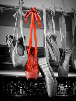 Photograph - The Red Slipper by Silken Photography