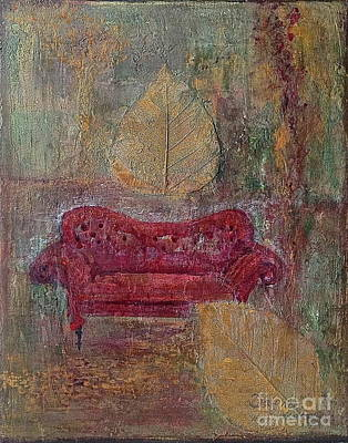 The Red Sofa Art Print