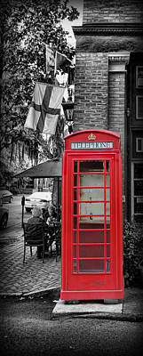 The Red Telephone Box - Time For Tea IIi Art Print by Lee Dos Santos