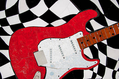 Photograph - The Red Tile Guitar by Roger Mullenhour