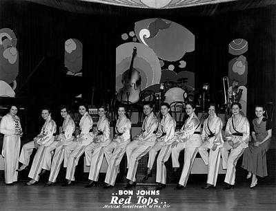 Photograph - The Red Tops Band by Underwood Archives