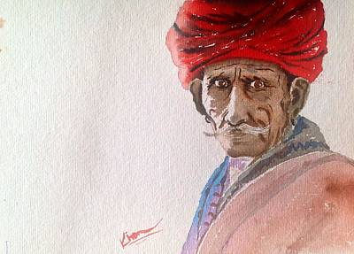 The Red Turban Original by Kiran Mahajan
