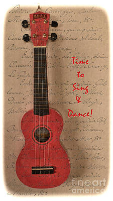 Photograph - The Red Ukulele  by Karen Lewis
