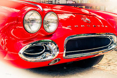 Photograph - The Red Vette by Rene Triay Photography