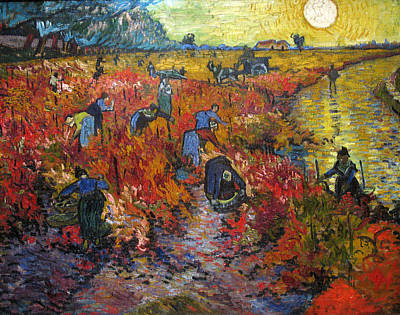 Painting - The Red Vineyard by Vincent van Gogh