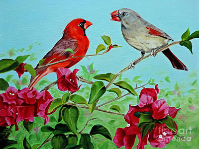 The Redbirds Art Print by Jimmie Bartlett