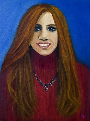 Painting - The Redhead - 2014 by Barbara J Blaisdell