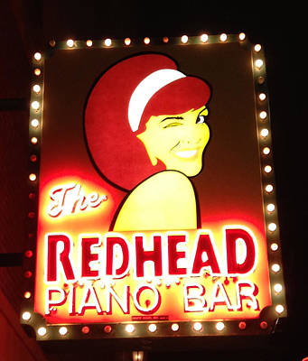 Martini Royalty-Free and Rights-Managed Images - The Redhead Piano Bar by Kathleen White