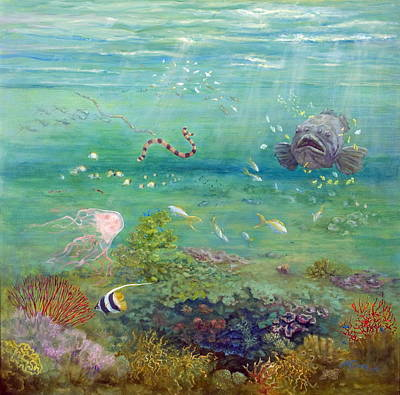 Marie Green Painting - The Reef Dwellers by Marie Green