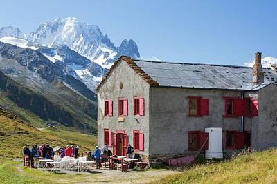 The Refuge On The Col Du Balme Art Print