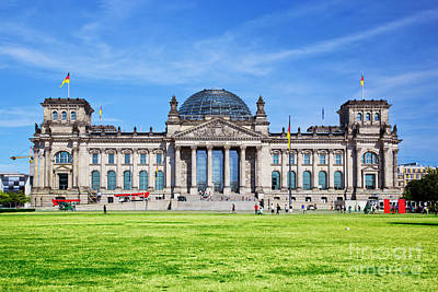 Photograph - The Reichstag Building Berlin Germany by Michal Bednarek