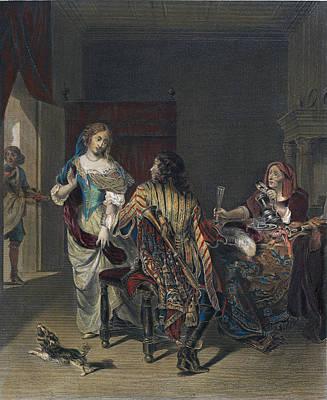 The Rejected Proposal Print by Verkolje, Jan (1650-1693), Dutch