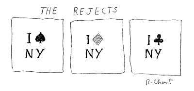Diamond Drawing - The Rejects by Roz Chast