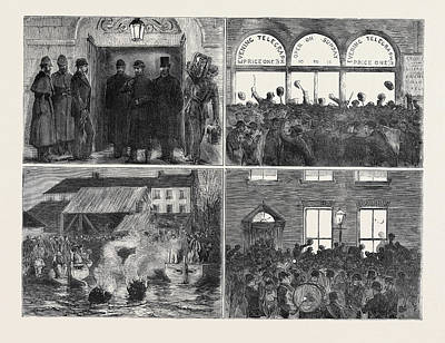Popular Culture Drawing - The Release Of The Suspects Popular Rejoicings In Dublin 1 by English School