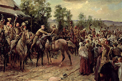 Victorious Painting - The Relief Of Ladysmith, On 27th by John Henry Frederick Bacon