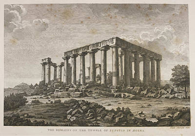Religious Drawings Photograph - The Remains Of The Temple Of Jupiter In A by British Library