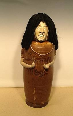 David Mack Sculpture - Bob Marley by David Mack