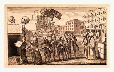 The Repeal Or The Funeral Of Miss Ame=stamp Print by English School