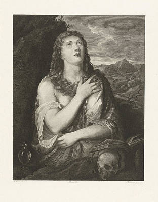 The Repentance Of Mary Magdalene, Joannes Bemme Print by Joannes Bemme