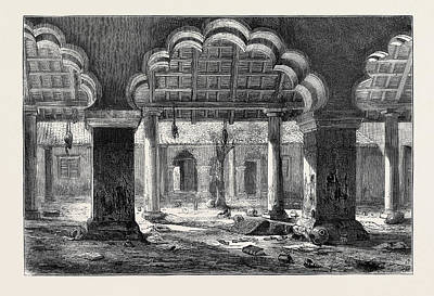 Nanas Art Drawing - The Reported Capture Of Nana Sahib, View Of The Court by English School