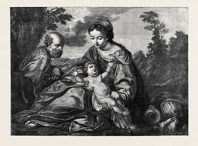The Repose In Egypt, In The Louvre At Paris Art Print